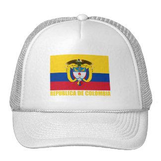 Bandera y escudo de armas de Colombia Gorras De Camionero