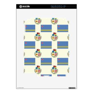 Bandera y escudo de Aruba Calcomanías Para El iPad 2