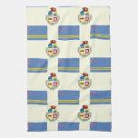 Bandera y escudo de Aruba Toallas