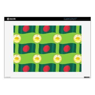 Bandera y escudo de Bangladesh 38,1cm Portátil Calcomanías