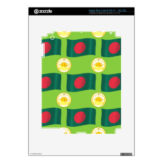 Bandera y escudo de Bangladesh iPad 3 Skins