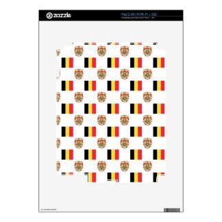 Bandera y escudo de Bélgica Calcomanía Para iPad 2