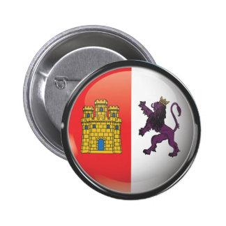 Bandera y escudo de Cáceres Pin Redondo 5 Cm