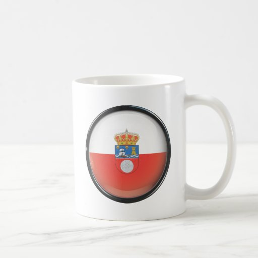 Bandera y escudo de Cantabria Taza Clásica