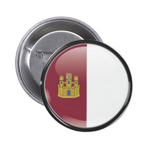 Bandera y escudo de Castilla La Mancha Botón