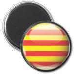 Bandera y escudo de Cataluña Imán Redondo 5 Cm