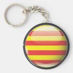 Bandera y escudo de Cataluña Llavero Redondo Tipo Pin