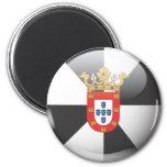 Bandera y escudo de Ceuta Imán De Nevera