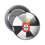 Bandera y escudo de Ceuta Pin Redondo De 2 Pulgadas