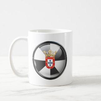 Bandera y escudo de Ceuta Taza De Café