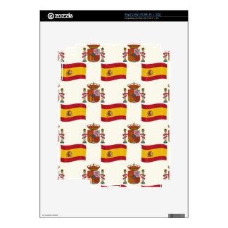 Bandera y escudo de España Calcomanías Para El iPad 2