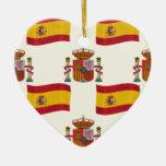 Bandera y escudo de España Ornaments Para Arbol De Navidad