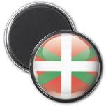 Bandera y escudo de Euskadi Imán Redondo 5 Cm
