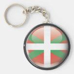 Bandera y escudo de Euskadi Llavero Redondo Tipo Pin