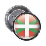 Bandera y escudo de Euskadi Pin Redondo De 2 Pulgadas