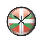 Bandera y escudo de Euskadi Reloj Redondo Mediano