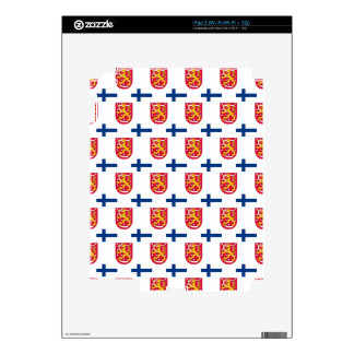 Bandera y escudo de Finlandia Calcomanía Para iPad 2