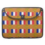 Bandera y escudo de Francia Fundas Macbook Pro