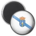 Bandera y escudo de Galicia Imán Redondo 5 Cm