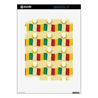 Bandera y escudo de Guinea iPad 2 Calcomanías