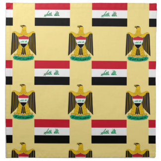 Bandera y escudo de Iraq Servilletas Imprimidas