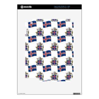Bandera y escudo de Islandia Skins Para iPad 2