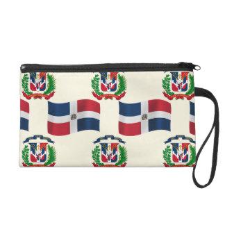 Bandera y escudo de la República Dominicana