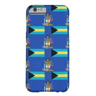 Bandera y escudo de las Bahamas Funda De iPhone 6 Barely There