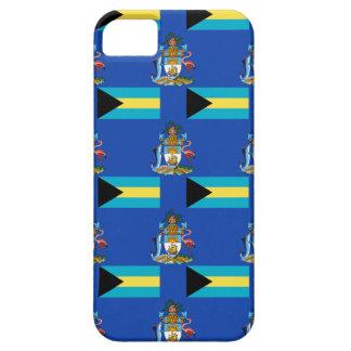 Bandera y escudo de las Bahamas iPhone 5 Funda