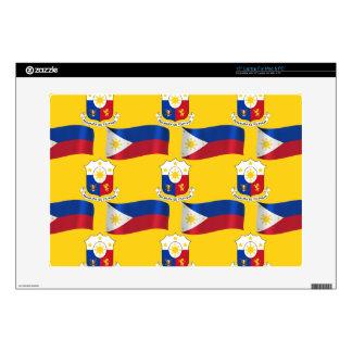 Bandera y escudo de las Filipinas Portátil 38,1cm Skins