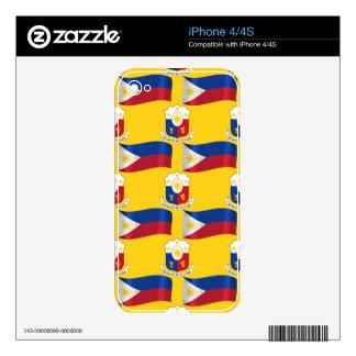 Bandera y escudo de las Filipinas Skins Para eliPhone 4S