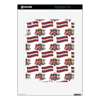 Bandera y escudo de Letonia Skin Para El iPad 2