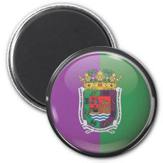 Bandera y escudo de Málaga Imán Redondo 5 Cm