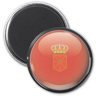 Bandera y escudo de Navarra Imán Redondo 5 Cm