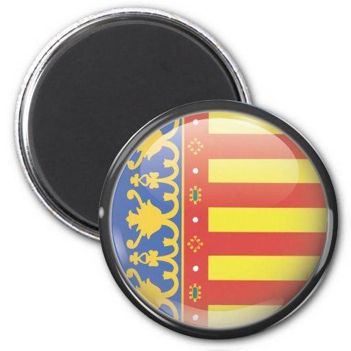Bandera y escudo de Valencia Imán