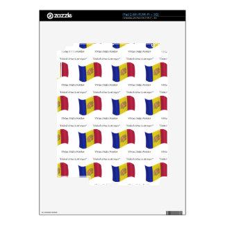 Bandera y lema de Andorra iPad 2 Calcomanía