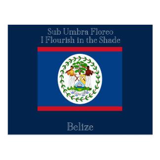 Bandera y lema de Belice Postales