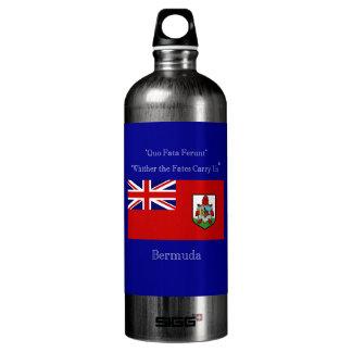 Bandera y lema de Bermudas Botella De Agua
