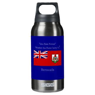Bandera y lema de Bermudas Botella Isotérmica De Agua