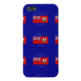 Bandera y lema de Bermudas iPhone 5 Cárcasa