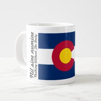 Bandera y lema de Colorado taza de 20 onzas Tazas Extra Grande