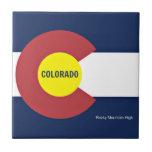 Bandera y lema de Colorado Tejas Cerámicas