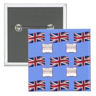 Bandera y lema de Reino Unido Pin