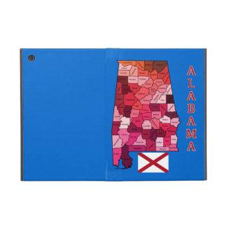 Bandera y mapa de Alabama iPad Mini Protector