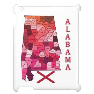 Bandera y mapa de Alabama