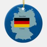 Bandera y mapa de Alemania Adorno