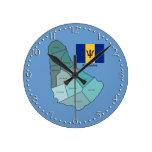 Bandera y mapa de Barbados Relojes