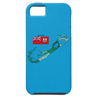 Bandera y mapa de Bermudas iPhone 5 Carcasas