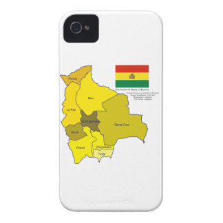 Bandera y mapa de Bolivia Funda Para iPhone 4 De Case-Mate