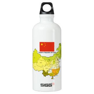 Bandera y mapa de China